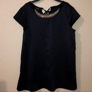 Deep blue blouse